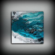Blue Malerei Square Fine Art Prints abstrakten von LDawningScott