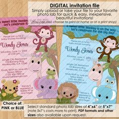 Sweet Jungle Babies Baby Shower Invitations / boy by monkeyhut, $16.00