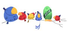 this years new year google is adorable, especially because i love birds!