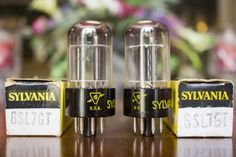 Sylvania 6SL7GT MATCHED PAIR Top Getter NOS Black Base 1960's Vacuum Tubes MDGGZDetailsNOS