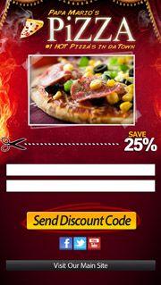 Pizza / Restaurant Mobile Website Landing Page.  Contact us : +606 2922643   Melaka Creative Mobile Website - Malaysia's leading Mobile Website company. http://CreativeMobileWebsite.com