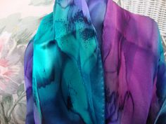 A personal favorite from my Etsy shop https://www.etsy.com/listing/208292491/scarf-silk-women-hand-dyed-silk-scarf