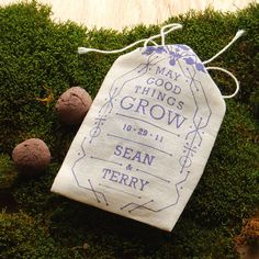 Eco wedding favor idea - customized seed bombs. By visualingual, $30