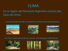 Resultado de imagen para regiones del noa clima