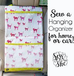 Sew a Hanging Organizer {free sewing tutorial}