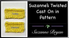 Twisted Long Tail CO in Pattern - YouTube Knitting Basics, Knitting Videos, Knitting Stitches, Knitting Tutorials, Knit Crochet, It Cast, Tips, Pattern, Youtube