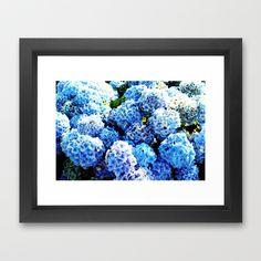 Blue flowers all summer  Framed Art Print by seb mcnulty - $32.00