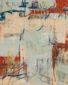 Archive by Diane Bowie Zaitlin mixed media encaustic, 30 x 24. www.dianebowiezaitlin.com