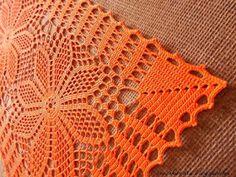 ergahandmade: Crochet Doily + Diagram Crochet Table Runner Pattern, Free Crochet Doily Patterns, Crochet Doily Diagram, Filet Crochet, Diy Crochet, Crochet Designs, Crochet Doilies, Doily Art, Crochet Carpet