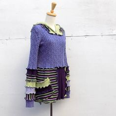 Katwise Inspired Sweater Hoodie  Upcycled Clothing  Pixie