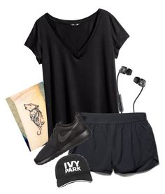 """Work Out"" by weirdestgirlever ❤ liked on Polyvore featuring Skullcandy, H&M, Under Armour, NIKE and Ivy Park"