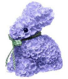 "RAZ Imports - 4"" Hydrangea Easter Bunny - Purple"