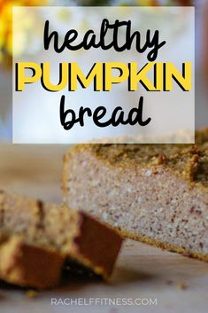 With its pumpkin pie spice, cinnamon, pumpkin puree, and maple syrup this pumpkin bread recipe gives you of all the wonderful flavors of fall in one bite! No Sugar Desserts, Light Desserts, Healthy Dessert Recipes, Gluten Free Desserts, Holiday Desserts, Yummy Recipes, Breakfast Recipes, Vegetarian Recipes, Healthy Food