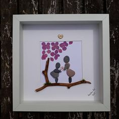 Pebble Art Thank you Teacher Pebble Picture Gift end of