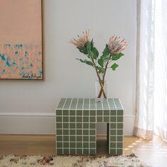 Pink Tiles, Black Tiles, White Tiles, Tiled Coffee Table, Coffee Tables, Tile Tables, Buy Tile, Aesthetic Room Decor, Art Deco