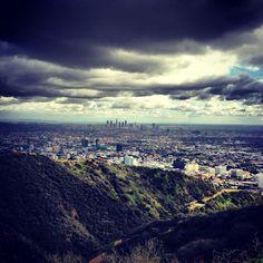 Hiking at Runyan Canyon, Los Angeles, CA