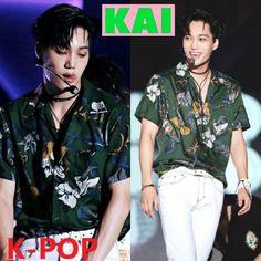Kim Jong In, Kai, Button Down Shirt, Men Casual, Mens Tops, Shirts, Fashion, Moda, Fashion Styles