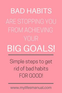 Are you looking for simple ways to setting goals and crushing them? The truth is, your bad habits are stopping you from achieving your goals. Learn how to break bad habits and set actionable goals. You'll find the perfect setting goal planner and workshee Beauty Routine Planner, Goals Planner, Planner Tips, Set Your Goals, Achieve Your Goals, Good Habits, Healthy Habits, Self Development, Personal Development