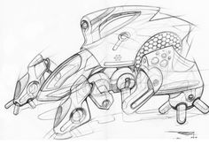 personal sketch by Reza Razazzadeh at Coroflot.com Pen Sketch, Drawing Sketches, Drawings, Space Ship Concept Art, Maya Modeling, Conceptual Sketches, Arte Robot, Cool Doodles, Art Hub