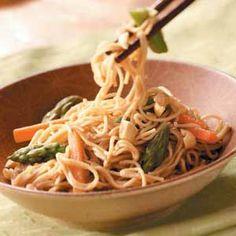 Asian veggie pasta