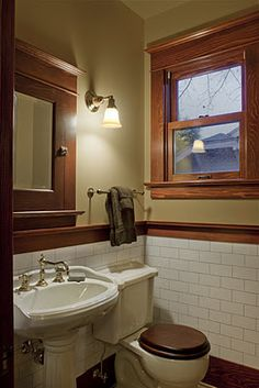 Stunning Craftsman Bathroom Design Ideas - News - Info Virals - New Fashion and Home Design around the World Craftsman Style Bathrooms, Craftsman Style Interiors, Bungalow Bathroom, Bungalow Interiors, Craftsman Interior, Bungalow Homes, Craftsman Style Homes, Craftsman Bungalows, Craftsman Decor