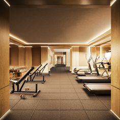 Gym Interior, Studio Interior, Interior Design, Home Gym Design, Dream Home Design, House Design, Dream Home Gym, Black Bedroom Design, Hotel Gym