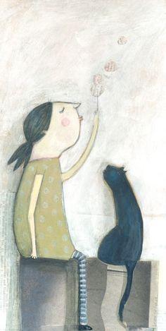 Dandelion wishes ~ Leonor Perez