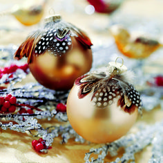 """I might make some as gifts, but it's too much work to create an entire """"look,"""" especially as we have all our holiday """"stuff"""" by now. Holiday Decorations Inspired by Nature, HGTV"""