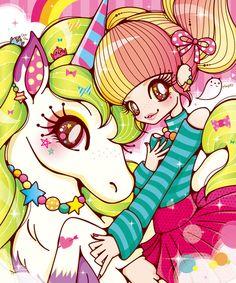 。゜☆.゜mahou cure゜.☆。゜ — loughmaker: MARKiii illustration. ... This is so cute It's like TokiDoki meets Lisa Frank >W