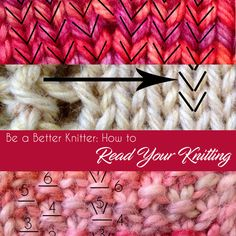 Be a Better Knitter: How to Read Your Knitting - Little NutMeg Productions Source by Loom Knitting, Knitting Stitches, Free Knitting, Purl Stitch, Seed Stitch, Knitting Designs, Knitting Patterns, Knitting Tutorials, Knitting Ideas