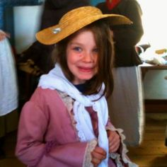 Colonial dress up at George Washingtons birthday party!