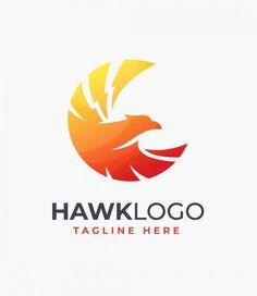 Hawk Logo Design Template AI, EPS