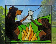 Bears roasting marshmallows?