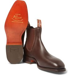 Shop men's boots at MR PORTER, the men's style destination. Discover our selection of over 400 designers to find your perfect look. Brown Leather Chelsea Boots, Mens Designer Boots, Leather Dress Shoes, Boot Socks, Cool Boots, Men S Shoes, Me Too Shoes, Riding Boots, Mens Fashion