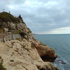 Close to the paradise⛅ #cliff #promenade #Malaga #paradise #cloudyday #cloudy  #autumn