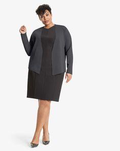 The Woolf Jardigan - Charcoal | M.M.LaFleur Long Take, Knit Jacket, Shoulder Pads, Charcoal, Stylists, Blazer, Long Sleeve, Sleeves, Cardigans