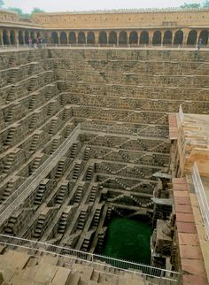 Scattered across India's vast landscape of ancient architecture including temples, mosques, and palaces are an often overlooked relic of historic infrastructure called stepwells. These subterranean buildings, once numbered in the thousands, were originally dug into the landscape so residents could e