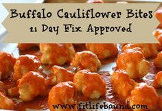 Buffalo Cauliflower Bites with Blue Cheese Sauce - 21 Day Fix Approved