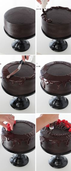 Red Wine Chocolate Cake - there's even red wine in the ganache!
