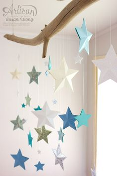 Stars Over-the-Table Christmas Mobile ~ Susan Wong