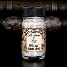 WITCHES CIRCLE SALT For Protection, Purification, Charging and Casting a Magic Circle, Cleansing Crystals and Stones