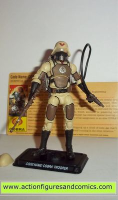 Hasbro Toys action figures for sale to buy: G.I.JOE 25th anniversary 2008 COBRA TROOPER (extreme hostile environment specialist - desert flame trooper) 100% COMPLETE with all weapons/accessories and p