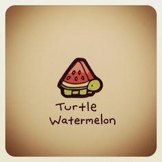 Turtle Watermelon #turtleadayjuly