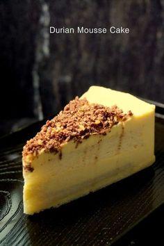 Asian Desserts, Sweet Desserts, Delicious Desserts, Durian Recipe, Moose Cake, Baking Recipes, Dessert Recipes, Cake Recipes, Durian Cake