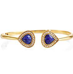 Blue Lapis Pave Hinge Bracelet