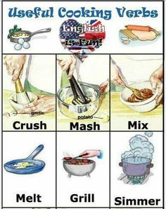 useful cooking verbs
