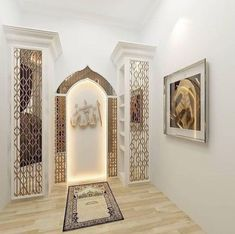 Design Inspirations for a Prayer Room at Home - CasaNesia Home Room Design, Room Interior Design, House Design, Cosy Interior, Decoraciones Ramadan, Prayer Corner, Islamic Decor, Arabic Decor, Prayer Room