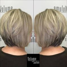 Stacked Ash Blonde Bob