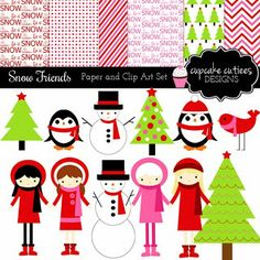 Cupcake Cutiees: New Releases 12/8- Clip Art and Papers