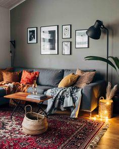 Eclectic and cozy living room  Pinossa | Pinossa-blogissa sisustetaan pienen perheen kotia rennolla otteella Interior Design, Lifestyle Blog, Ash, Living Rooms, Table, Vintage, Furniture, Tips, Home Decor